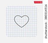 heart icon vector.