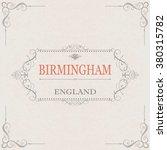 birmingham england.vintage... | Shutterstock .eps vector #380315782
