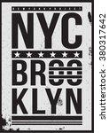 brooklyn sport t shirt graphic | Shutterstock .eps vector #380317642