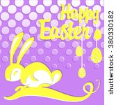 colorful happy easter greeting... | Shutterstock .eps vector #380330182