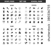 food icons set.