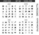 sport icons set.   Shutterstock .eps vector #380336776