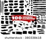 large grunge elements set.... | Shutterstock .eps vector #380338618