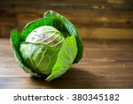 Fresh Green Garden Cabbage On...