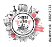wine vector wine background... | Shutterstock .eps vector #380345788
