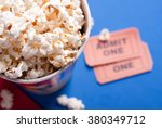 box of popcorn  tickets | Shutterstock . vector #380349712