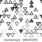 abstract triangle black and... | Shutterstock . vector #380351092
