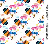 seamless holiday purim pattern | Shutterstock .eps vector #380351152