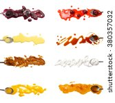 set of 8 sweet sauces and... | Shutterstock . vector #380357032