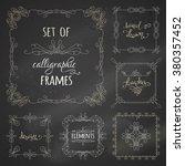 vector set of chalk... | Shutterstock .eps vector #380357452