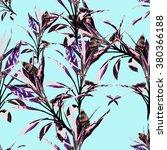 seamless  tropical flower ... | Shutterstock . vector #380366188
