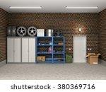 the interior suburban garage... | Shutterstock . vector #380369716