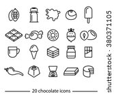 chocolate icons collection | Shutterstock .eps vector #380371105