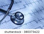 healthcare doctor's stethoscope ... | Shutterstock . vector #380373622