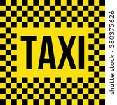 word taxi that situated on... | Shutterstock .eps vector #380375626