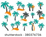 Colorful Vector Palm Tree...