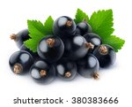 isolated black currants. pile... | Shutterstock . vector #380383666