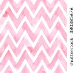 chevron of pink color on white... | Shutterstock . vector #380385676