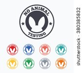 no animals testing sign icon.... | Shutterstock .eps vector #380385832