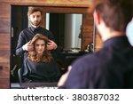 women's haircut. hairdresser ...   Shutterstock . vector #380387032