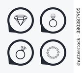 rings icons. jewelry with shine ... | Shutterstock .eps vector #380387905