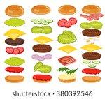 burger isolated. burger...   Shutterstock . vector #380392546