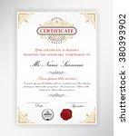 certificate template design... | Shutterstock .eps vector #380393902