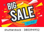 big sale banner. sale and... | Shutterstock .eps vector #380394952