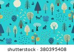 the vector illustrated seamless ... | Shutterstock .eps vector #380395408