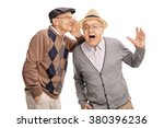 senior man whispering something ... | Shutterstock . vector #380396236