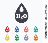 h2o water drop sign icon. tear... | Shutterstock .eps vector #380396302