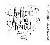follow your heart greeting card ... | Shutterstock .eps vector #380397172