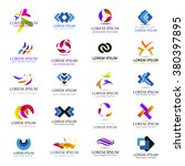 business icons set isolated on... | Shutterstock .eps vector #380397895