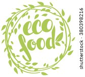 Logo Eco Food With Leaves ...