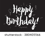 happy birthday inscription.... | Shutterstock .eps vector #380405566