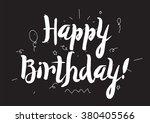 happy birthday inscription.... | Shutterstock .eps vector #380405566