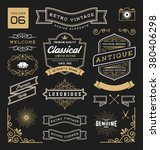 set of retro vintage graphic... | Shutterstock .eps vector #380406298