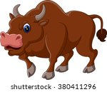 illustration of strong bull... | Shutterstock . vector #380411296