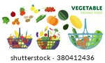 vector vegetables basket. | Shutterstock .eps vector #380412436