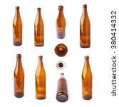 empty brown beer glass bottle... | Shutterstock . vector #380414332
