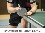 table tennis player serving  ... | Shutterstock . vector #380415742