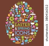 Easter And Spring Icons In The...