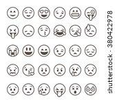 set of outline emoticons  emoji ... | Shutterstock .eps vector #380422978