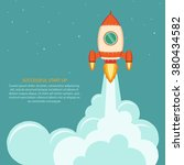 space rocket launch. business... | Shutterstock .eps vector #380434582