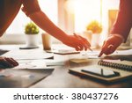 working day in office. two... | Shutterstock . vector #380437276