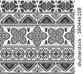 vector tribal mexican vintage... | Shutterstock .eps vector #380446108