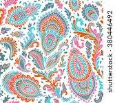 beautiful vector vintage floral ... | Shutterstock .eps vector #380446492