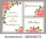 vintage delicate invitation... | Shutterstock .eps vector #380448172