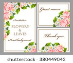 vintage delicate invitation... | Shutterstock .eps vector #380449042