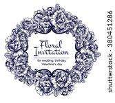 romantic invitation. wedding ... | Shutterstock . vector #380451286